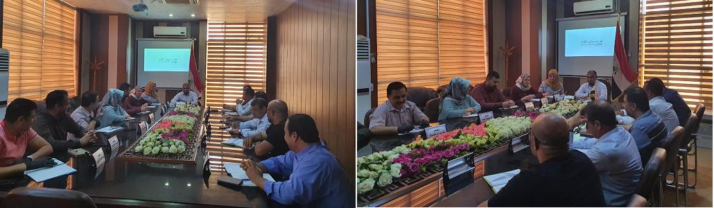اجتماع مجلس الكلية برئاسة الدكتور باسم صالح